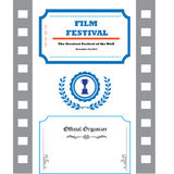 Molde do cartaz do festival de cinema Foto de Stock Royalty Free