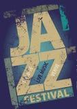 Molde do cartaz do festival de jazz Fotografia de Stock Royalty Free