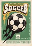 Molde do cartaz do vetor do competiam do futebol ilustração royalty free