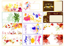 Molde do cartão Imagens de Stock
