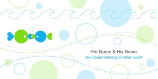 Molde do cartão de casamento Fotografia de Stock Royalty Free