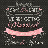 Molde do cartão do convite do casamento Foto de Stock Royalty Free