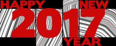 Molde do cartão simples do ano novo com vermelho 2017 Fotografia de Stock