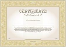 Molde do certificado Imagem de Stock Royalty Free