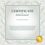 Molde do certificado Fotografia de Stock Royalty Free