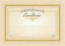 Molde do certificado Fotos de Stock Royalty Free