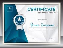 Molde do certificado Imagens de Stock