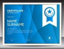 Molde do certificado Fotos de Stock