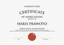 Molde do certificado Apropriado para sua empresa Melhore sua visibilidade Logotipo profissional e eficaz Cor e scal editáveis Imagens de Stock Royalty Free