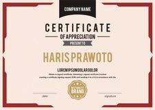 Molde do certificado Apropriado para sua empresa Melhore sua visibilidade Molde profissional e eficaz do certificado editabl Foto de Stock Royalty Free