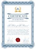 Molde do certificado com elementos do guilloche Ilustração Royalty Free