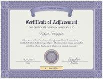 Molde do certificado da qualificação ilustração royalty free