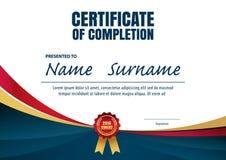 Molde do certificado, disposição do diploma ilustração royalty free