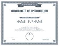 Molde do certificado do vetor Fotos de Stock