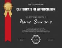 Molde do certificado do vetor Fotografia de Stock Royalty Free