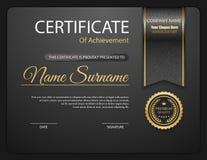 Molde do certificado do vetor Foto de Stock Royalty Free