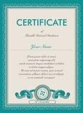 Molde do certificado do vetor ilustração do vetor