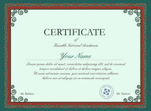Molde do certificado do vetor ilustração royalty free