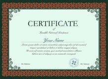 Molde do certificado do vetor ilustração stock