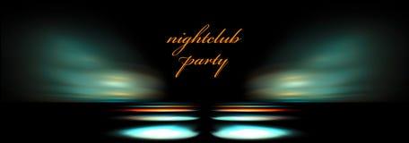 Molde do clube de noite ilustração do vetor