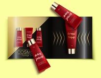 Molde do compartimento de forma, catálogo do cosmético Imagem de Stock