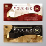 Molde do comprovante de presente cartão da promoção, projeto do vale Fotos de Stock Royalty Free