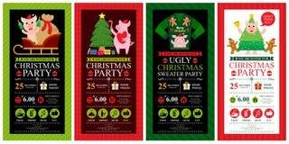 Molde do convite do cartão de Natal ilustração royalty free