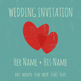 Molde do convite do casamento Fotografia de Stock