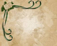 Molde do convite do casamento Imagens de Stock
