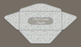 Molde do envelope com teste padrão floral Imagem de Stock