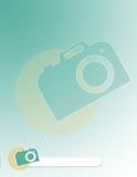 Molde do folheto da fotografia Fotos de Stock