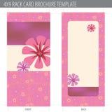 Molde do folheto do cartão da cremalheira Fotos de Stock Royalty Free