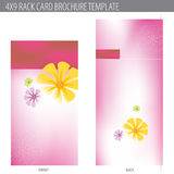 molde do folheto do cartão da cremalheira 4x9 Fotos de Stock Royalty Free
