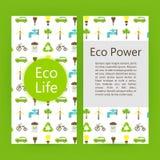 Molde do folheto do inseto da energia do poder da ecologia Fotografia de Stock Royalty Free