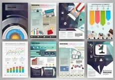Molde do folheto do negócio com elementos infographic Fotografia de Stock Royalty Free