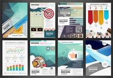 Molde do folheto do negócio, infographics abstrato do conceito e CI Fotos de Stock Royalty Free