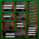 Molde do formulário do Web com conceito do casino ilustração royalty free