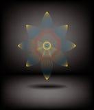 Molde do fundo da flor do Fractal Imagens de Stock