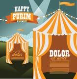 Molde do fundo das tendas do circus de Purim Fotografia de Stock Royalty Free