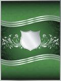 Molde do fundo do vetor do verde de esmeralda Fotografia de Stock Royalty Free