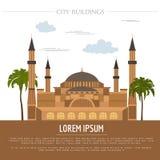 Molde do gráfico das construções da cidade St Sofia Mosque ilustração stock