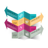 Molde do infographics do sumário do processo de negócio