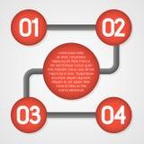 Molde do infographics do vetor Foto de Stock