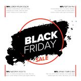 Molde do inseto do cartaz de Black Friday imagens de stock