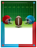 Molde do inseto do partido do futebol americano ilustração stock