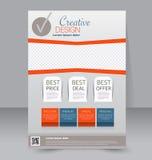 Molde do inseto Folheto do negócio Cartaz A4 editável ilustração royalty free