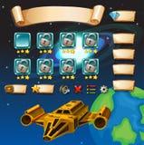 Molde do jogo com fundo da galáxia ilustração royalty free