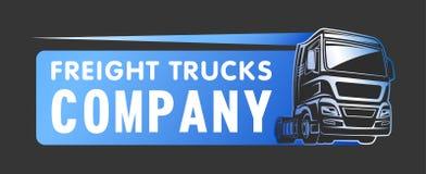 Molde do logotipo da empresa do frete da carga do caminhão ilustração royalty free
