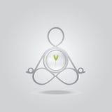 Molde do logotipo da pose da ioga Imagem de Stock