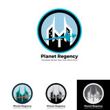 Molde do logotipo da regência do planeta do espaço Imagem de Stock Royalty Free